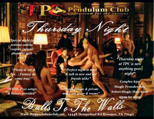 Balls To The Walls Thursday - THE PENDULUM CLUB Hempstead-Jun 18, 2020 SDC.com