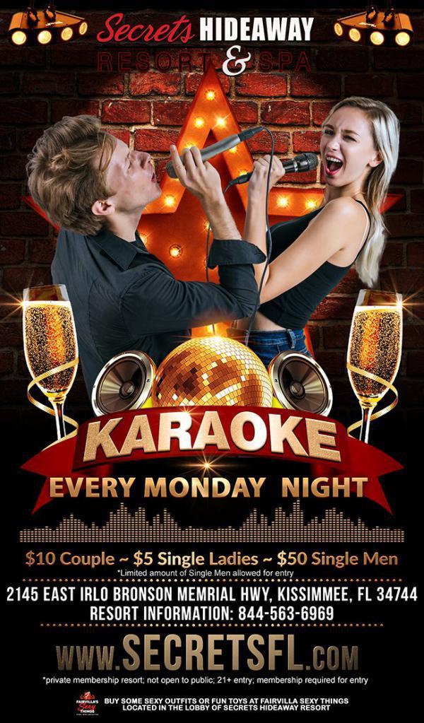 Karaoke Monday - Secrets Hideaway-Jun 15, 2020 SDC.com