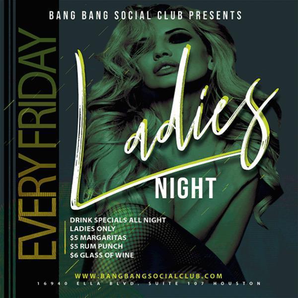 Ladies Night - Bang Bang Social Club-Jun 19, 2020 SDC.com