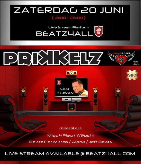 Prikkelz Homebass--LIVE Stream-- XL-Jun 20, 2020 SDC.com