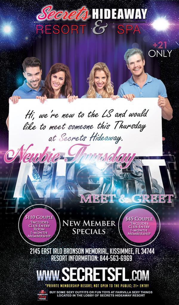 Meet - Greet Newbie Thursday - Secrets Hideaway-Jul 30, 2020 SDC.com