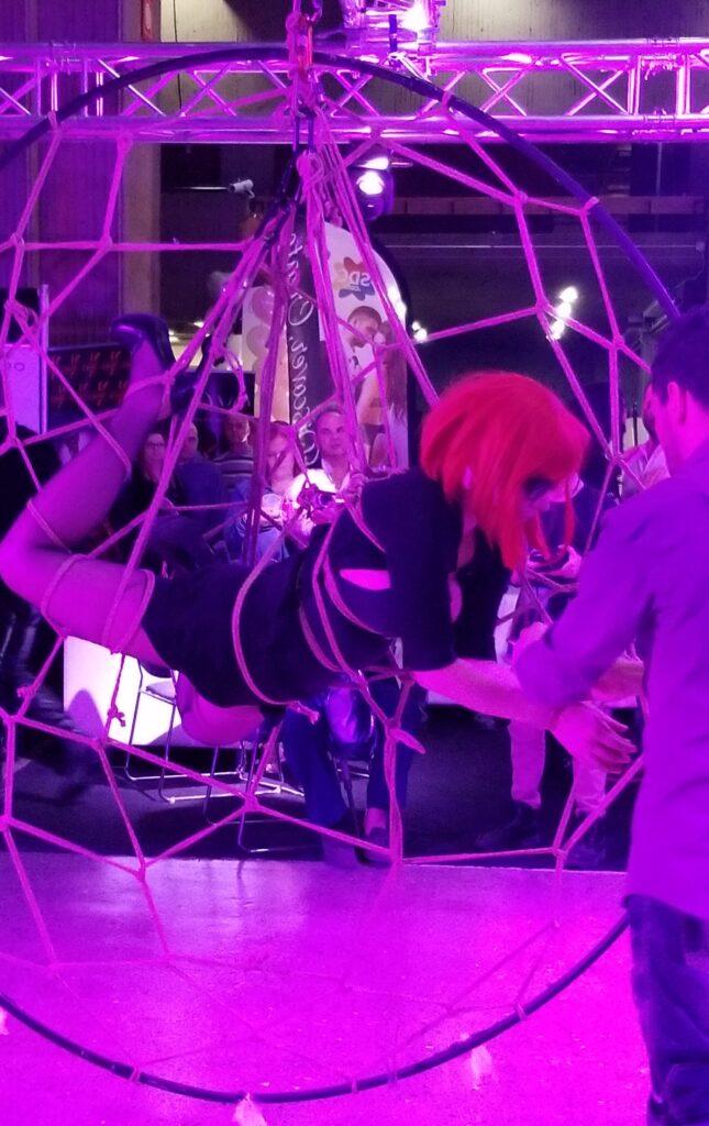 Shibari Bondage at Salon de l'Amour 2019 Montreal SDC L'Orage Club