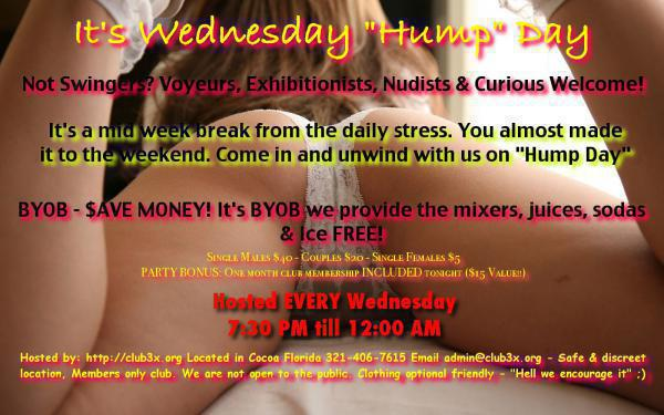 HUMP Day - Midweek Get Out and Blow Off Some Steam - CLUB3X-Oct 14, 2020 SDC.com