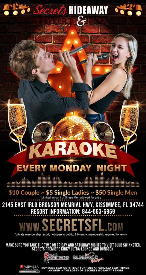 Karaoke Monday - Secrets Hideaway-Oct 19, 2020 SDC.com