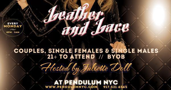 Leather - Lace Party - PENDULUM NYC-Oct 19, 2020 SDC.com
