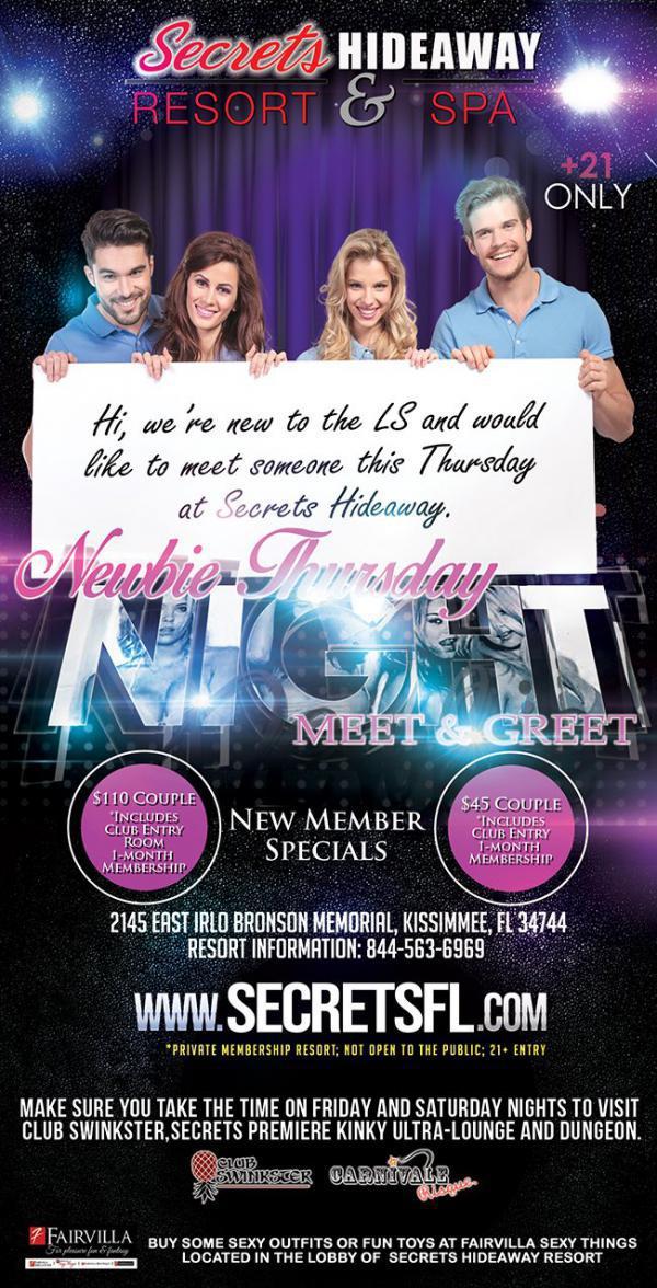 Meet - Greet Newbie Thursday - Secrets Hideaway-Oct 08, 2020 SDC.com