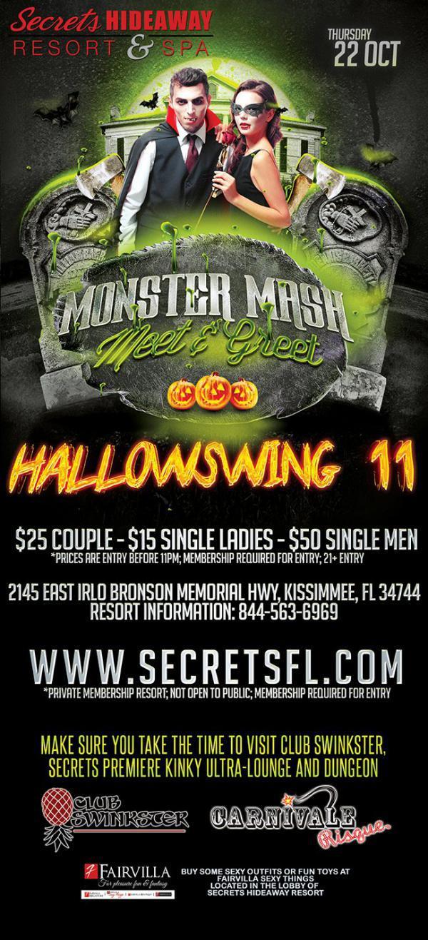 Monster Mash Meet - Greet Thursday - HallowSwing 11 - Secrets Hideaway-Oct 22, 2020 SDC.com