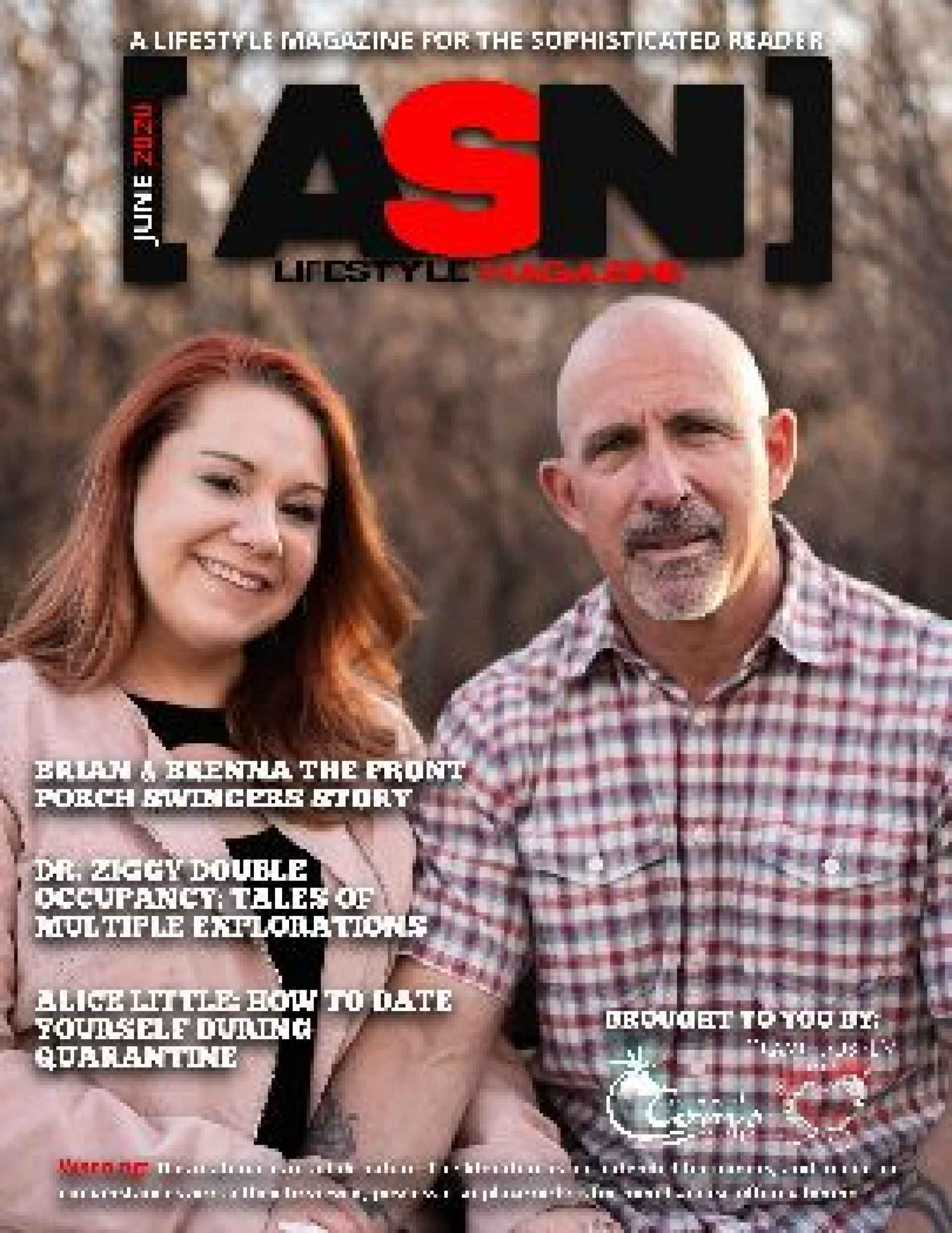 ASN Lifestyle Magazine June 2020 Cover Front Porch Swingers Hotwife Brenna