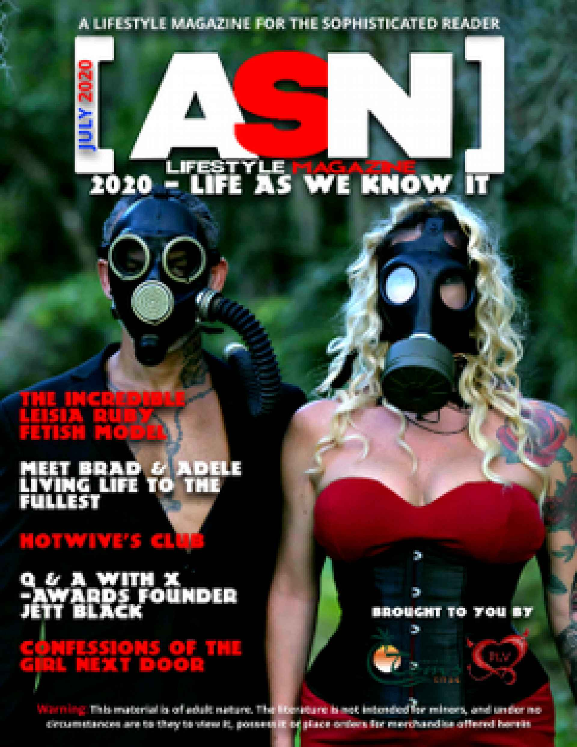 ASN Lifestyle Magazine July 2020 Cover Swingers Fetish