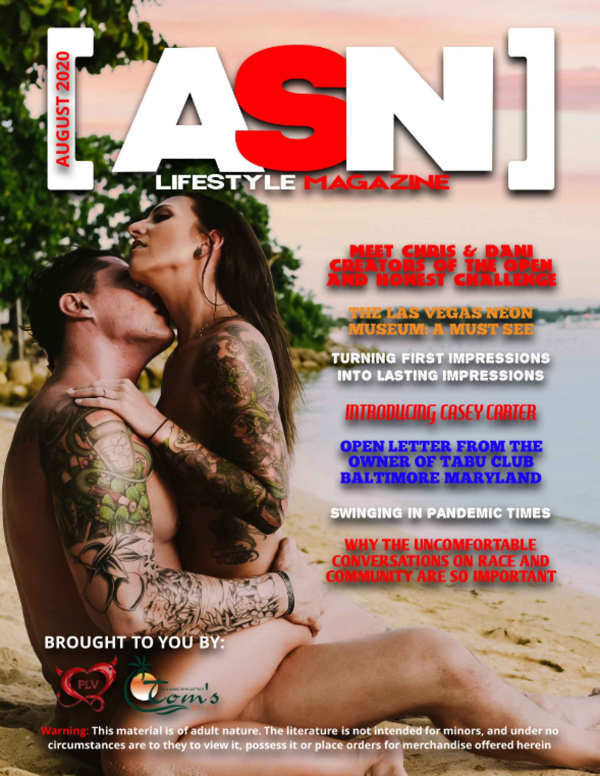 ASN Lifestyle Magazine August 2020 Cover Swingers NonMonogamy Open Honest Challenge