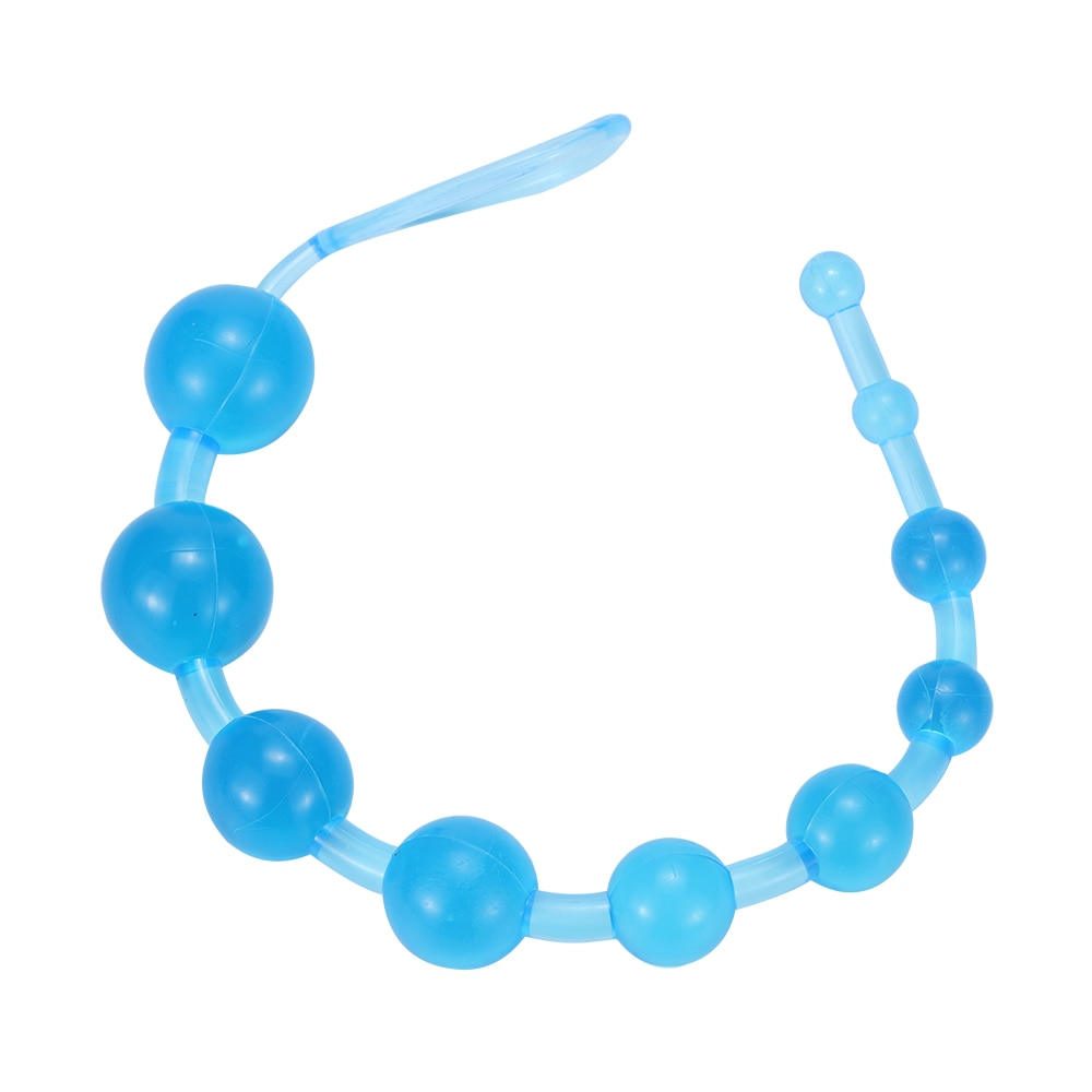 Jelly Anal Beads Orgasm Vagina Plug Play Pull Ring Ball Anal Stimulator Butt Beads Plug Sex Toys For Adult Men Women Gay Male
