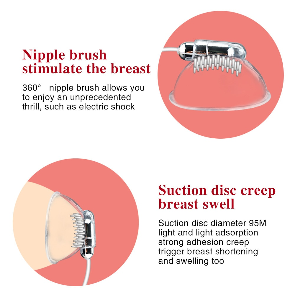 20 Modes Nipple Stimulation Licking Vibrator Breast Enlargement Masturbator Nipple Chest Massage Sex Toys for Women