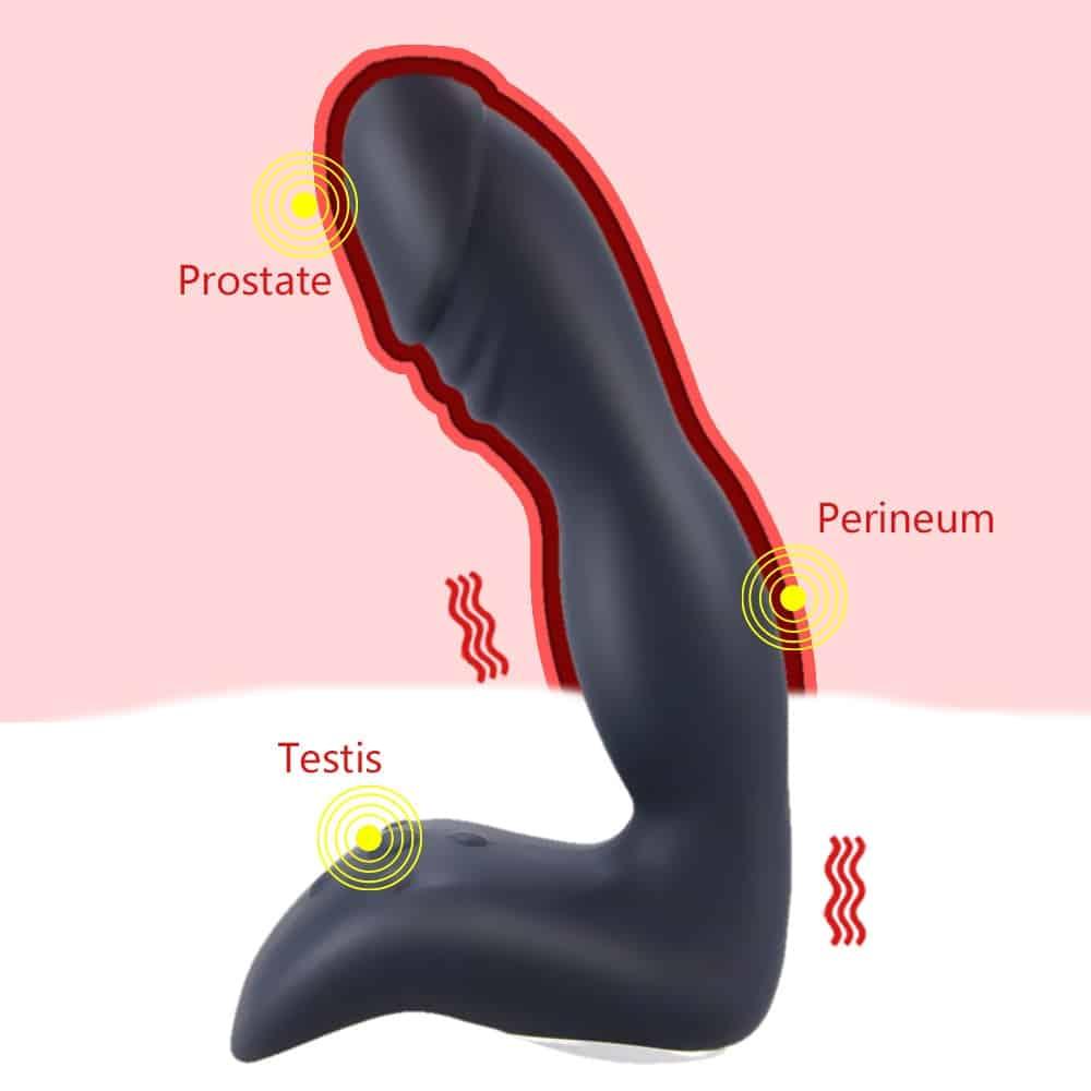 Prostate Massage Remote Vibrator For Men Anal Plug Silicone Prostate Stimulator Butt Plug Delay Ejaculation Ring Gay Sex Toys