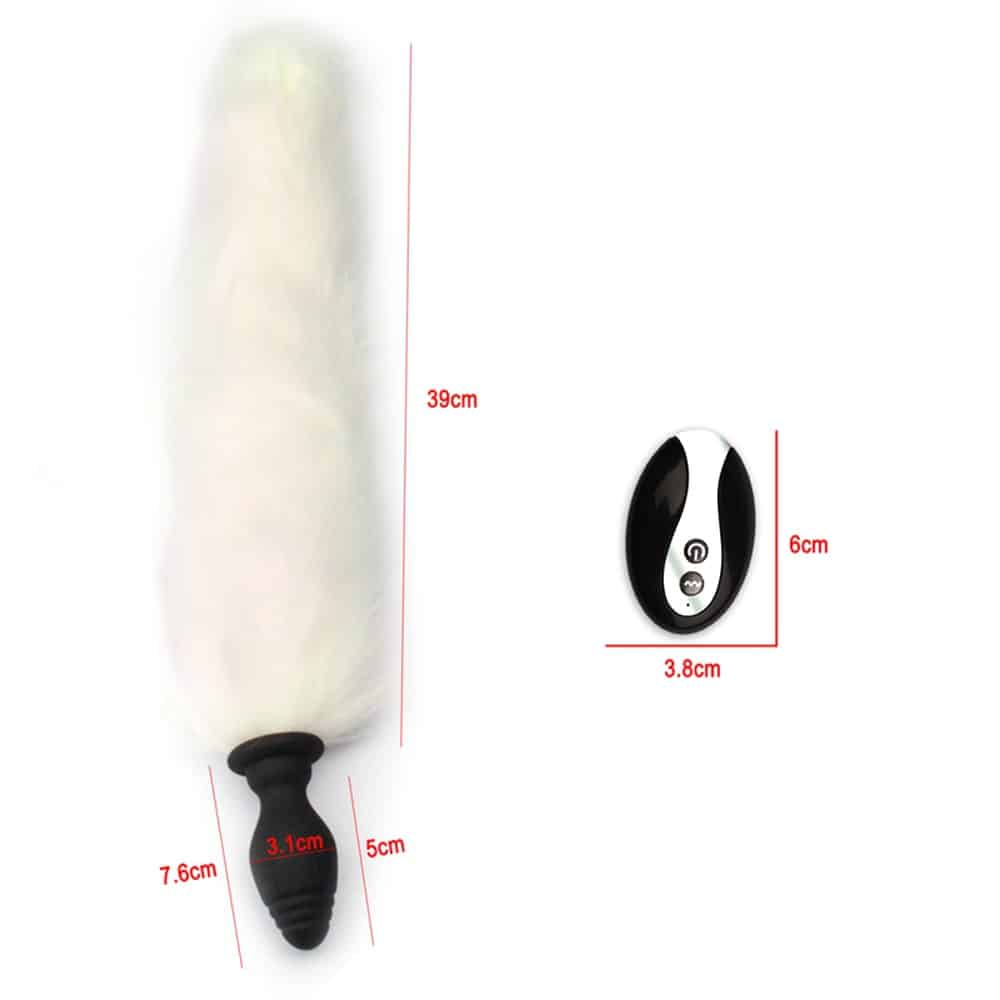 Fox Tail Anal Vibrator For women Dildo Butt Plug Prostate Massager Dildo Adult Game Buttplug Erotic Vibrator Sex Toys For Women