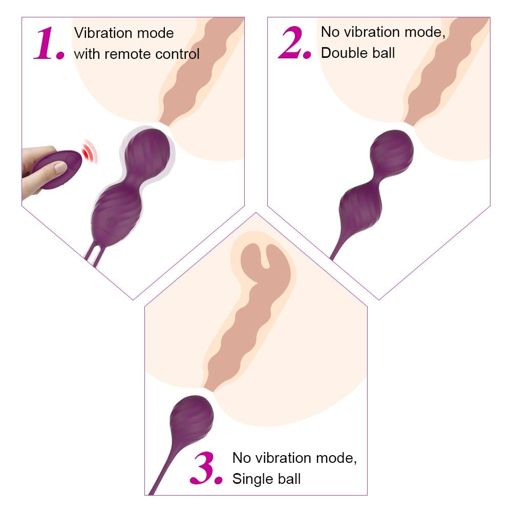 Vaginal Balls Kegel Exerciser Vibrating Eggs Silicone Ben Wa Ball G Spot Vibrator Erotic Sex Toy For Women Love egg Chinese Ball