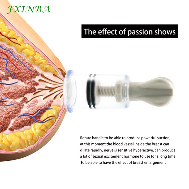 FXINBA 2Pcs Breast Nipple Sucker Clitoris Suction Bdsm Bondage Massager Nipple Vacuum Pump Enlarger Sex Toys for Women Adults