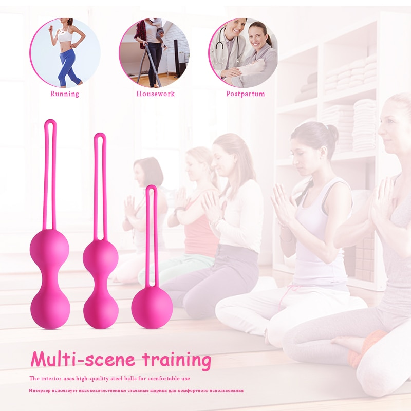Medical Silicone Kegel Balls Exercise Tightening Device Balls Safe Ben Wa Ball for Women Vaginal massager Adult toy No Vibrator