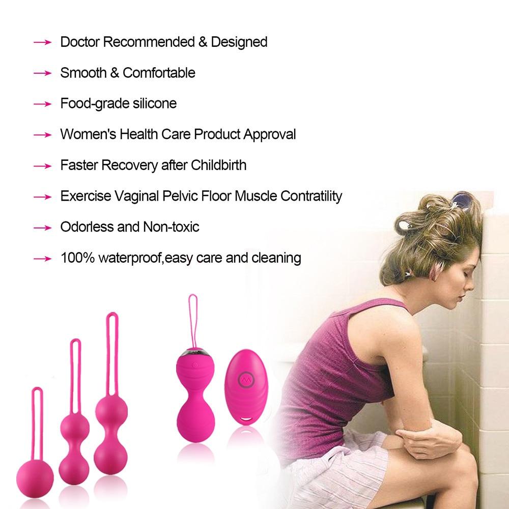 5pcs Vaginal tighten Exercise Kegel Balls 10 Speed Vibrating eggs Silicone Ben wa ball G Spot Vibrator Erotic sex toy for Women