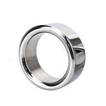 Male Metal stainless steel penis lock cock ring ball stretcher head delay time extend testicles sex toy for man