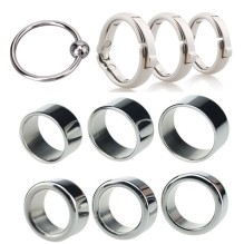 2pcs/lot Male Circumcision Ring Glans Rings Metal Foreskin Correction Penis Ring Delay Ejaculation Lock Cockrings Sex Toys B2-48
