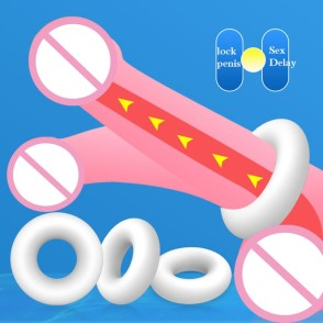 3PCS Silicone Multifunction Penis Ring Cock Ring For Men Male Ejaculation Delay Ejaculation Long Lasting Cockring For Beginner
