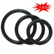 3 Pcs Cock Ring Penis Enhance Erection Sex Toys For Men Delay Ejaculation Cockring Penis Locker Scrotum Sleeve Intimate Goods