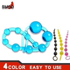 Smoo Anal Beads  Sex Toys for WomenMen Gay Plug Play Pull Ring Ball Anal Stimulator Butt Beads G spot