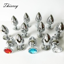 Thierry 100% real photo Metal Anal Butt Plug Stainless Steel Anal Plug Erotic sex toys for Adults games Sex Products For women