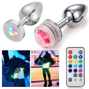 Led Butt Plug Metal Anal Plug With Light Sex Games For Couples Luminous Anal Cork Prostate Massage Buttplug Tail Erotic Toys