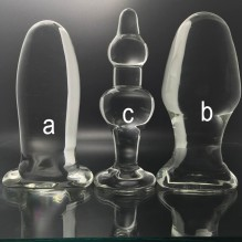 Transparent Glass Anal Plug Dildo Anus Dilator Expander Butt Plugs Large Big Buttplug Ass Sex Toys For Woman