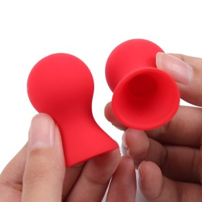 2PCS Mini Cute Silicone Nipple Suckers Nipple Cupping Enhancer Correction Clitoris Pump Cups Sex Toys For Woman