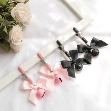 Black And Pink Woman Sexy Adjustable Nipple Clamp Breast Bdsm Small Bell Adult Fetish Flirting Teasing Sex Toys For Couples