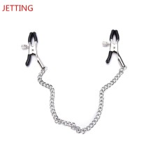 Nipple Clamps Sex Slave Metal chain Breast Clip SM Bondage Breast Sex Toy Adult Game Clitoris Clamp For Couples Exotic Apparel