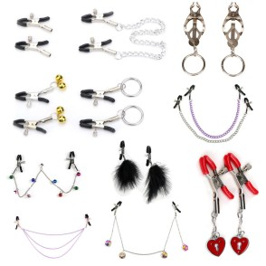 Metal Chain Nipple Clamps Milk Breast Nipple Clip Adult Games For Couples Flirt Toys Adult Games Bdsm Bondage Exotic Accessories