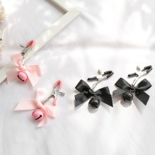 Black & Pink Woman Sexy adjustable Nipple Clamp Breast Bdsm Small Bell Adult Fetish Flirting Teasing Sex Toys for Couples