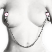 Bdsm Bondage Sex Products of Metal Nipple Clamp with Metal Chain for Women Fetish to Breast Labia Clip Stimulation Massager