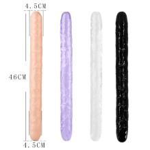 46cm Soft Jelly Dildo Double Long Realistic Dildos Cock Lesbian Vaginal Anal Plug Flexible Fake Penis For Women Dildos Sex Toys