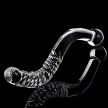 Big Long Double Bead Crystal Glass Dildo Fake Penis Anal Butt Plug Vagina Clit