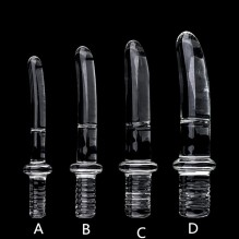 Diameter16/20/25/30mm Big Crystal Handle Glass Dildo Realistic  Artifical Dildo Anal Stimulation Sex Toys Dildo For Women Glass