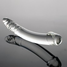 Black Wolf Pyrex Glass Dildo Artificial Fake Penis with Crystal Anal Butt Plug G Spot Masturbation Adult Sex Toys for Women