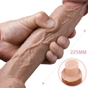 Huge Double Layer Iiquid Silicone Dildo Soft Realistic Penis Vagina G-spot Stimulator Powerful Suction Cup Sex Toys for Woman