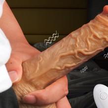 Wireless Thrusting Dildo Vibrators for Women Huge Dick Adult Sex Toy Realistic Telescopic Penis Masturbator Tool Vaginal Toys